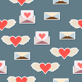 Valentines day or wedding seamless pattern background Stock Image