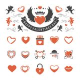 Valentines Day or Wedding Vintage Objects Vector Royalty Free Stock Photo