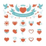 Valentines Day and Wedding Vintage Objects Vector Royalty Free Stock Images