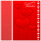 Valentines day and weeding cards stock illustration