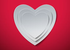 Valentines Day. White Hearts cut out from Paper Royalty Free Stock Photography