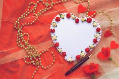 Valentines Day wish list Royalty Free Stock Photography