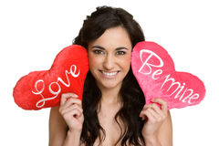 Valentines Day Woman. Beautiful valentines day love woman Stock Images