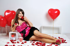 Valentines day woman Stock Photography