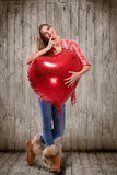 Valentines day woman Royalty Free Stock Photography