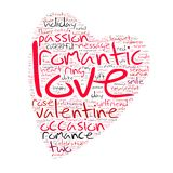 Valentines Day Word Cloud Heart Shaped Stock Images