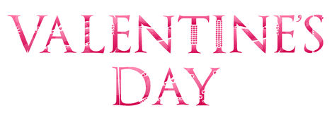 Valentines Day Word Royalty Free Stock Image