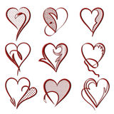 Valentines days card . Stock Images