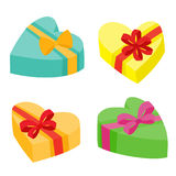 Valentines days presents collection. Vector illustration of cartoon gifts Stock Image