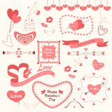 Valentines'ddag die Element ontwerpen stock illustratie
