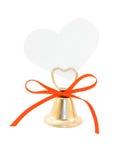 Valentines de Bell et de papier Photo stock