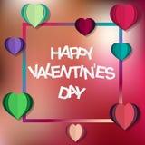 Valentines de kaart van de daggroet Vector illustratie Vakantiekaart met groet stock illustratie