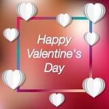 Valentines de kaart van de daggroet Vector illustratie Vakantiekaart met groet vector illustratie