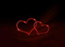 Valentines de St saluant le design de carte illustration de vecteur