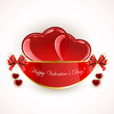 Valentines decoration with hearts Stock Image