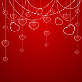 Valentines decoration with hearts Stock Photography