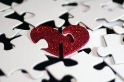 Valentines denteuses de puzzle de coeur d'amour  Image stock