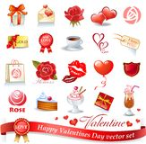 Valentines design elements Royalty Free Stock Photo