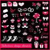 Valentines design elements Stock Image