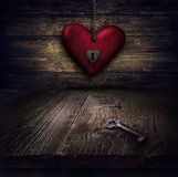 Valentines Design - Heart In Chains Royalty Free Stock Photography