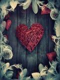 Valentines design - Love wreath Stock Images