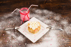 Valentines dessert Royalty Free Stock Photography