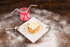 Valentines dessert royalty free stock photography