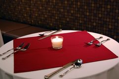 Valentines Dinner Table Stock Photography