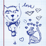 Valentines doodles Stock Images