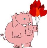 Valentines elephant Stock Image