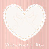 Valentines embroidery Stock Photography