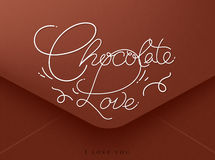 Valentines envelope chocolate Stock Images