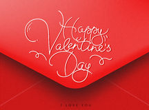 Valentines envelope red Royalty Free Stock Photo