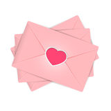 Valentines envelopes Royalty Free Stock Images