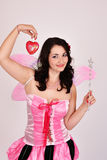 Valentines fairy sexy woman Royalty Free Stock Photo