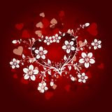 Valentines floral background,  Royalty Free Stock Photos