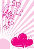 Valentines floral background Stock Images