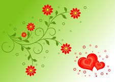 Valentines floral background Stock Photos