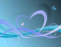 Valentines floral background stock illustration