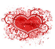 Valentines floral heart Royalty Free Stock Photo