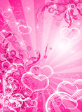 Valentines floral hearts Royalty Free Stock Photo