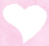 Valentines fluffy heart Stock Photos