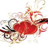 Valentines fond, vecteur Photos stock