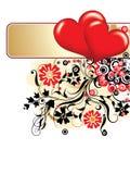 Valentines fond, vecteur Images libres de droits