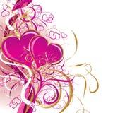 Valentines fond, vecteur Photo stock