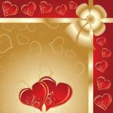 Valentines fond, vecteur Photographie stock
