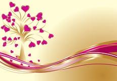 Valentines fond, vecteur Images stock
