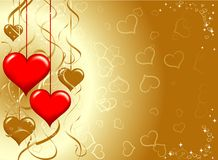 Valentines fond, vecteur Image libre de droits