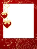 Valentines frame background. Stock Photo