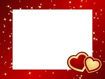 Valentines frame background. Stock Photography